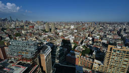 Wide Angle Daytime Time Lapse Over SoHo in Manhattan Footage