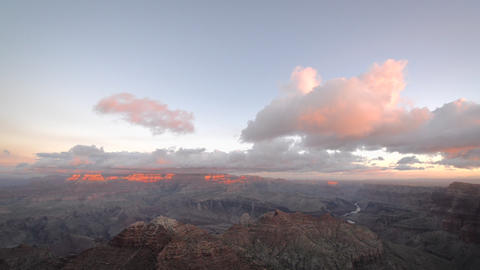 Clouds Passing by Grand Canyon Footage