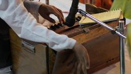 Pump Organ at evening ceremony,Varanasi,India Footage