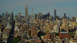 Daytime to Dusk Timelapse Over Midtown Manhattan Footage
