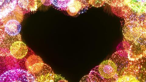 Fireworks Festival 5 Heart L 2 4k CG動画