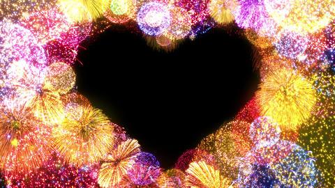 Fireworks Festival 5 Heart op 2 4k Animation