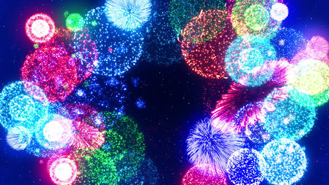 Fireworks Festival 5 Round2 4k Animation