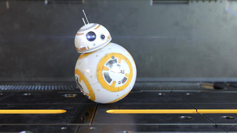 Star Wars BB-8 Robot Logo Plantilla de After Effects