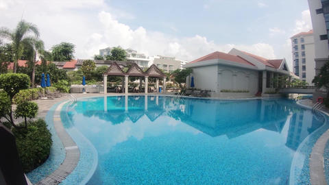 A view of pool of a condominium in Singapore Holland Village Footage