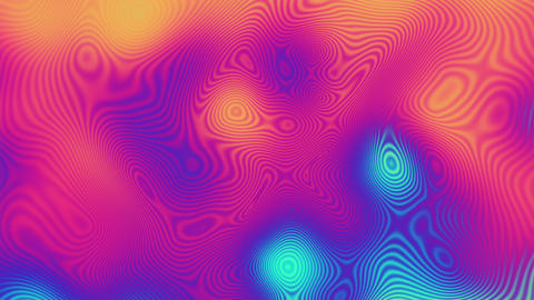 Popular gradient color stripes move cyclically. 3D animation of rows and rows of Live Action