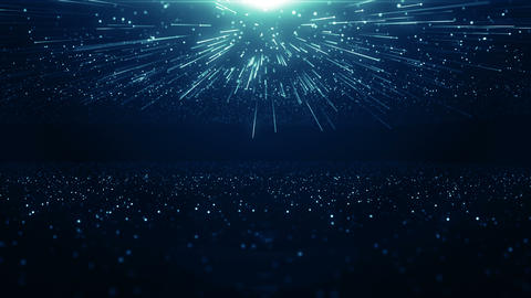 Particles blue bokeh dust abstract light motion titles cinematic background loop Videos animados