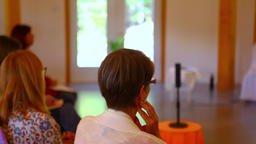 Women listening to a conference Footage