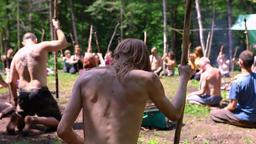 Diverse people enjoy spiritual gathering Live Action