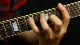Guitarist hurts his finger while playing Footage