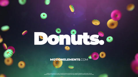 Donuts Logo After Effects Template