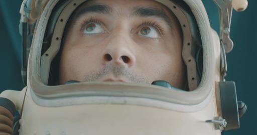 Attentive Astronaut Portrait Live Action