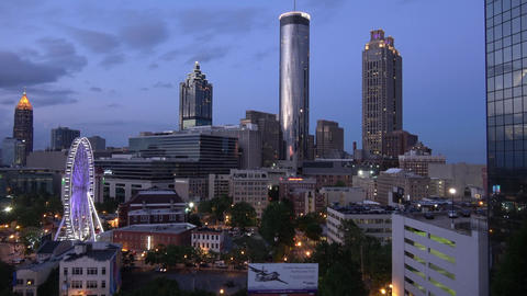Atlanta Downtown skyline in the evening - rooftop view - ATLANTA / GEORGIA - APR Live Action