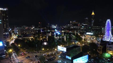 City of Atlanta - aerial view at night - ATLANTA / GEORGIA - APRIL 22, 2016 Live Action