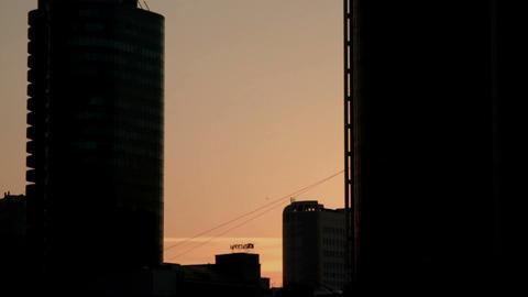 Metropolis. The city at dawn Footage