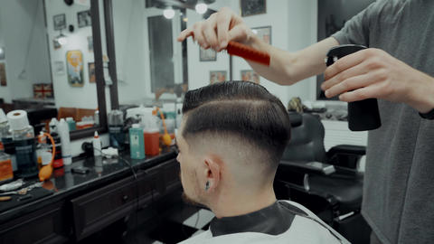 Men's hair styling Live Action
