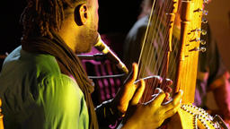 Folk musicians perform intimate gig Live Action