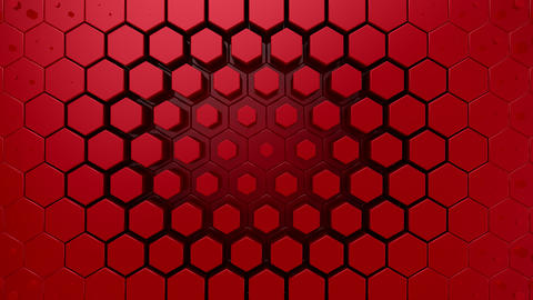 Hexagons Form A Wave Animation