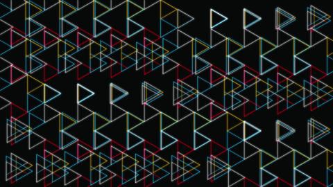 Glow Triangles Shapes Geometric Pattern Stock Video Footage
