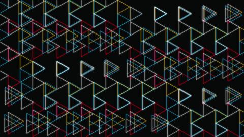 Glow Triangles Shapes Geometric Pattern Animation
