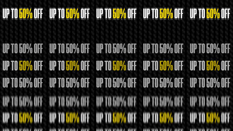 Text Animation With Message Up To 50 Percent Off 8K GIF