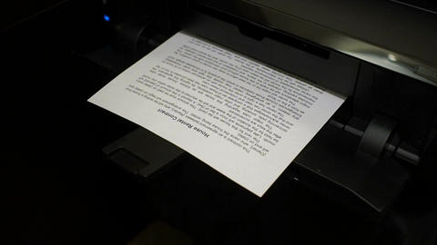 Ink printer prints the house rental contract, document 2 Footage