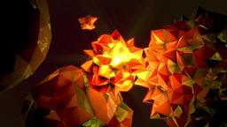 Rotating jagged orange orbs Footage