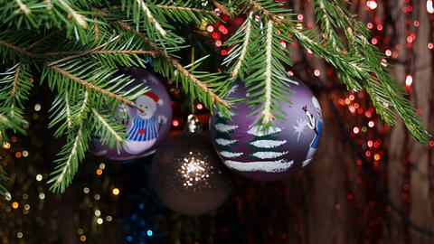 Christmas Decorations on The Christmas Tree Footage