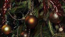 Christmas Ball on the Tree Footage