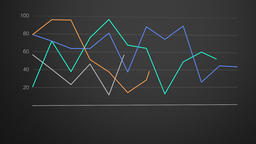 Line graph forming against dark gray gradient Footage