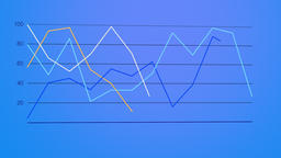 Line graph forming against dark blue gradient Footage