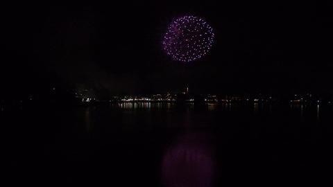 河口湖湖上祭の花火(現場音あり)-004 - Fix Footage