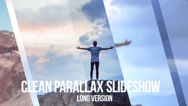 Clean Parallax Slideshow After Effects Project