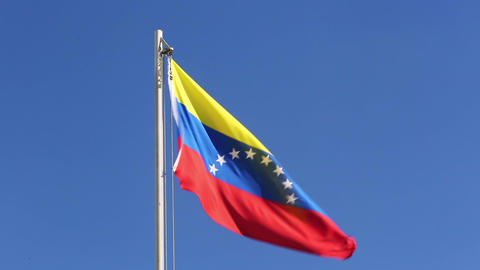 Textile flag of Venezuela Live Action