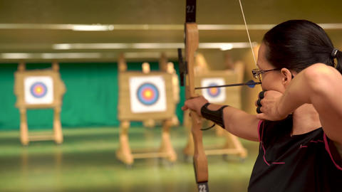 Archery as a sport discipline run in the hall and in the nature. Competition for Live Action