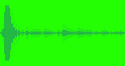 digital equalizer audio spectrum sound waves on chroma key green screen background, stereo sound ビデオ