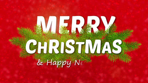 merry christmas animated logo, ideal footage for the Christmas period Footage
