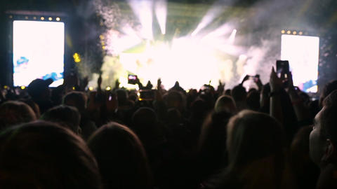 Confetti floating in the air during a concert Live Action