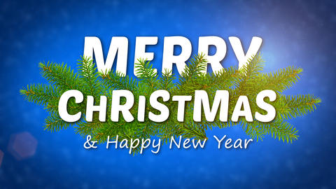 merry christmas animated logo, ideal footage for the Christmas period Photo