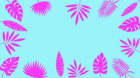 Tropical leaf minimal motion design animation Animation
