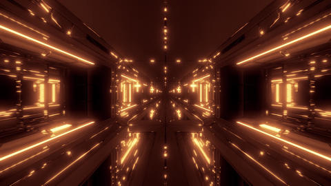 futuristic sci-fi space tunnel corridor with holy glowing christian cross and Animation