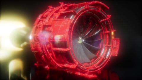 jet engine turbine parts rotate Archivo