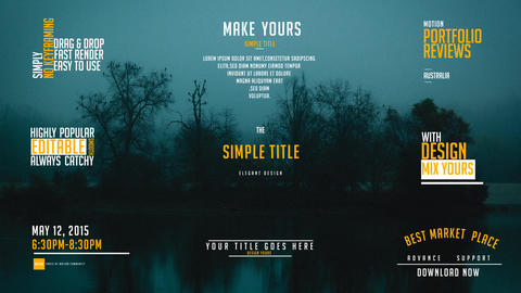 Minimal Title Pack 02 MOGRT Motion Graphics Template