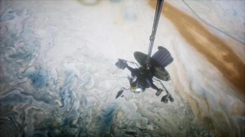 Galileo spacecraft orbiting Jupiter ビデオ