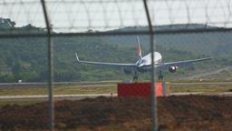 Boeing 757 landing at Phuket airport Footage