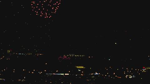 Fireworks over night city ビデオ