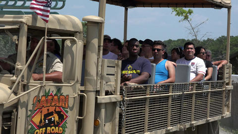 Safari Truck Driving on Road Footage