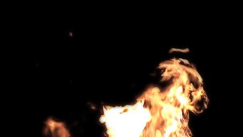 Fire 2 - slow motion - alpha channel Footage