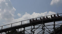 Amusement Park Roller Coaster Footage