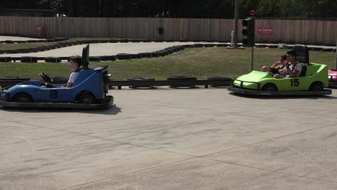 Go Karts on Race Track Footage
